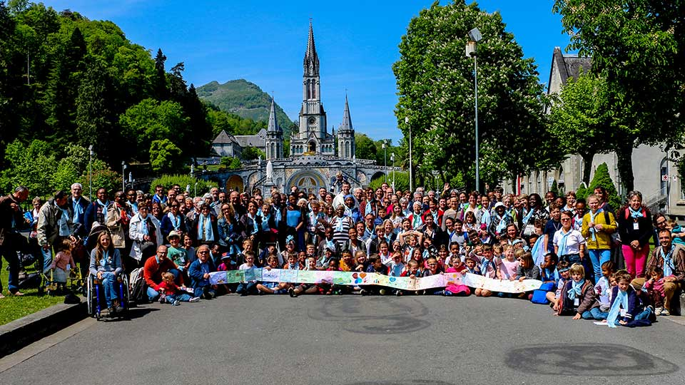 Les pèlerins de Lourdes 2018